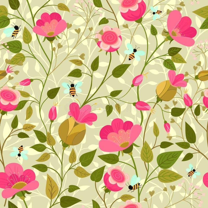 Gelbe Blumen, Basisrecheneinheit, Inneres mit Tropfen lizenzfreie abbildung