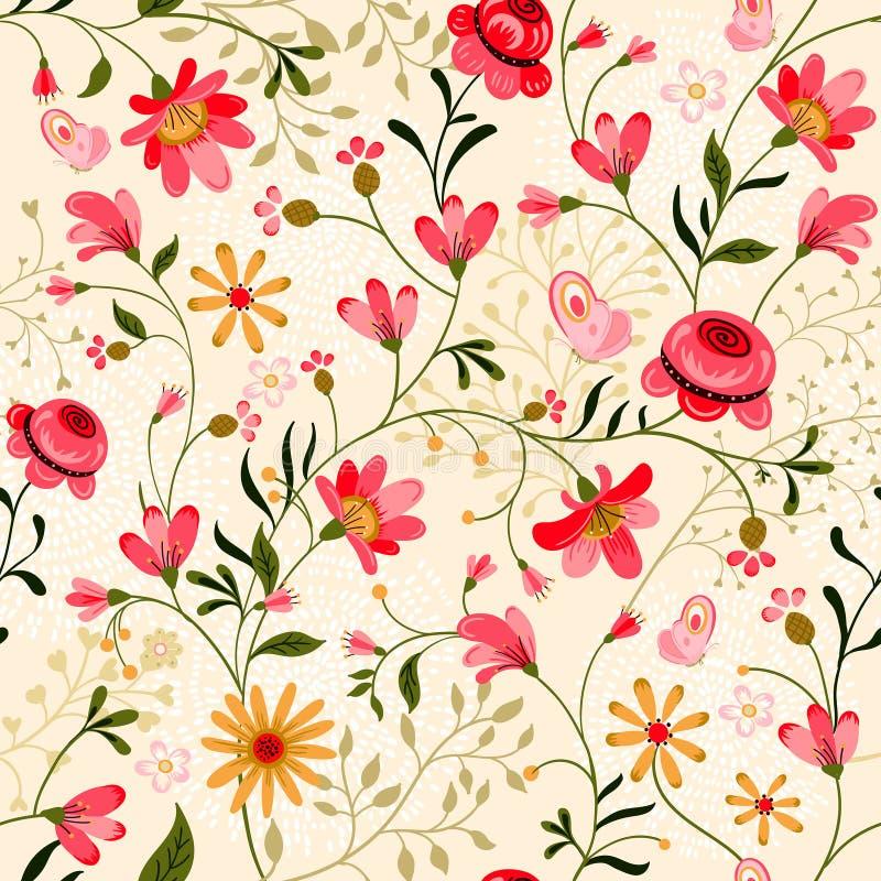 Gelbe Blumen, Basisrecheneinheit, Inneres mit Tropfen stock abbildung