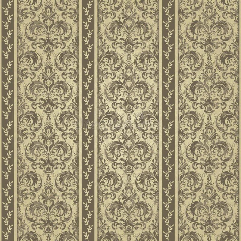 Gelbe Blumen, Basisrecheneinheit, Inneres mit Tropfen Tapetenbarock, Damast Sauberer und heller Entwurf lizenzfreie abbildung