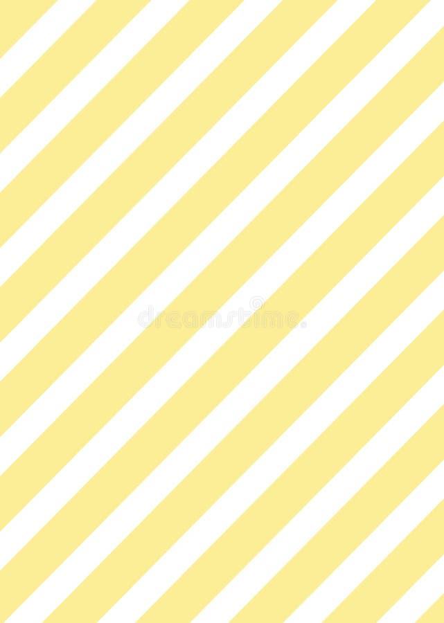 Gelbe diagonale Linien Mustertapete lizenzfreie abbildung