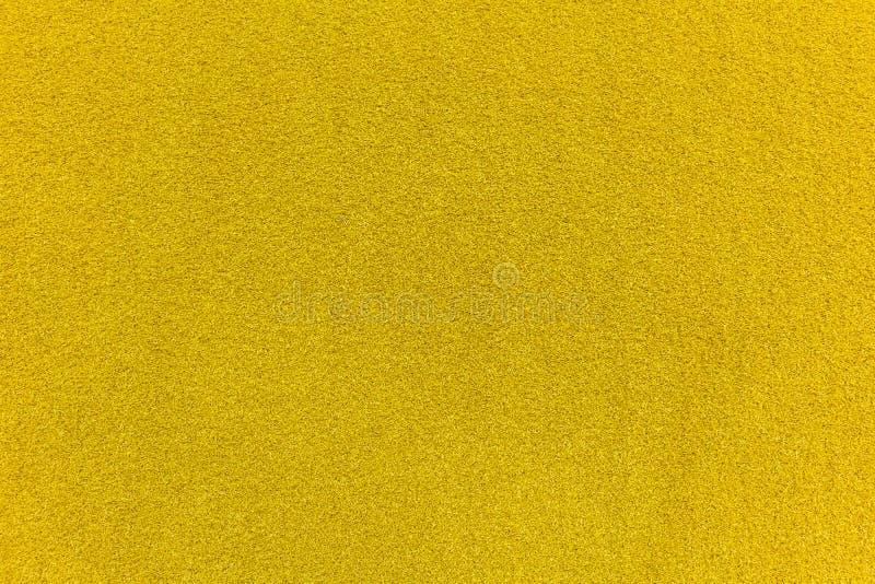 gelbe Fußmattenbeschaffenheit der natürlichen Faser der Coir für Hintergrund lizenzfreies stockbild