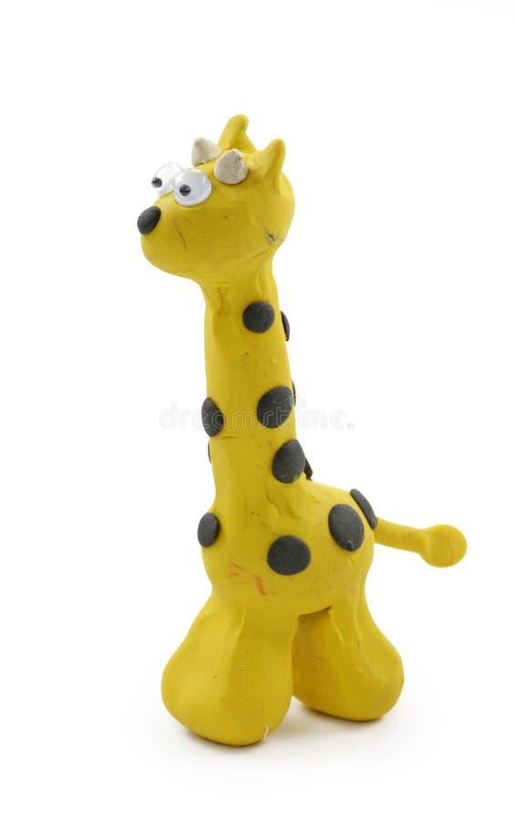 Gelbe Giraffe lizenzfreies stockfoto