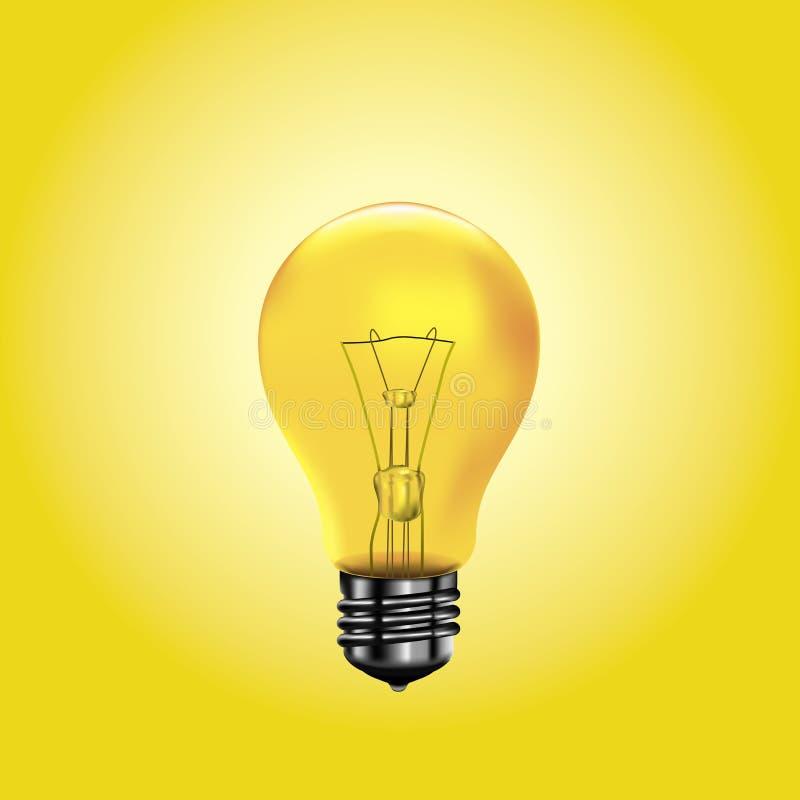 Gelbe Glühlampe lizenzfreie abbildung