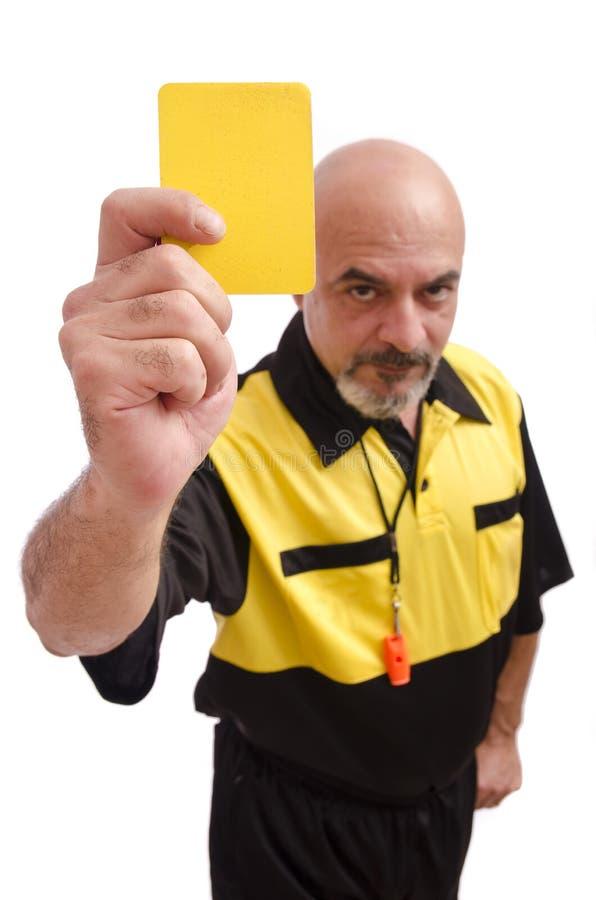 Gelbe Karte! lizenzfreie stockfotos