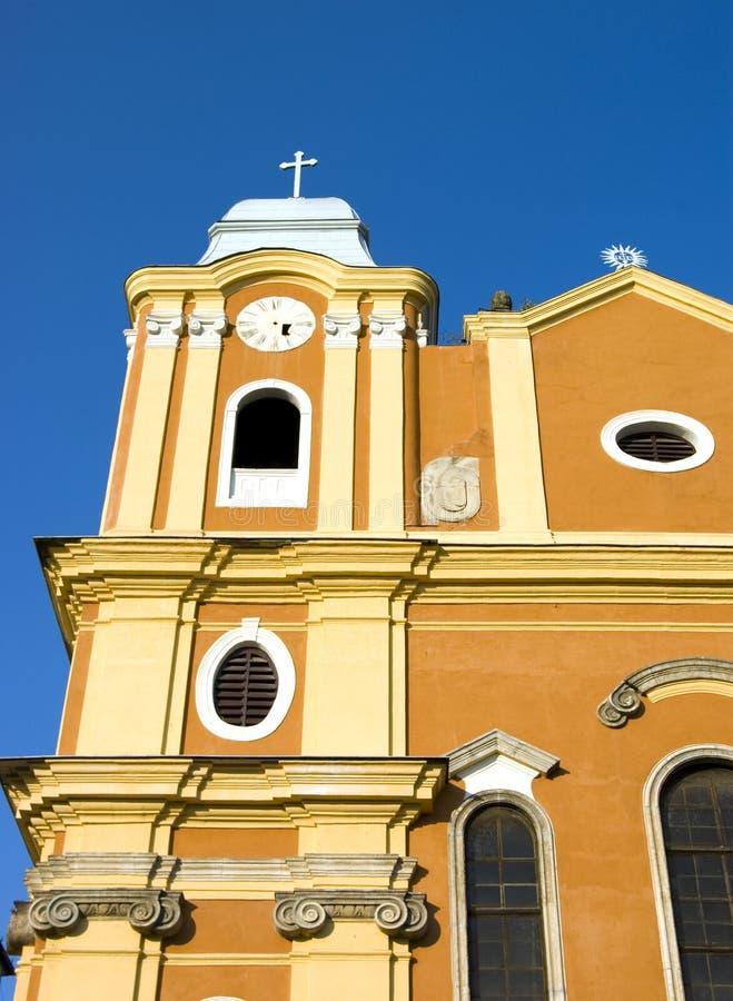 Gelbe Kirche stockbilder