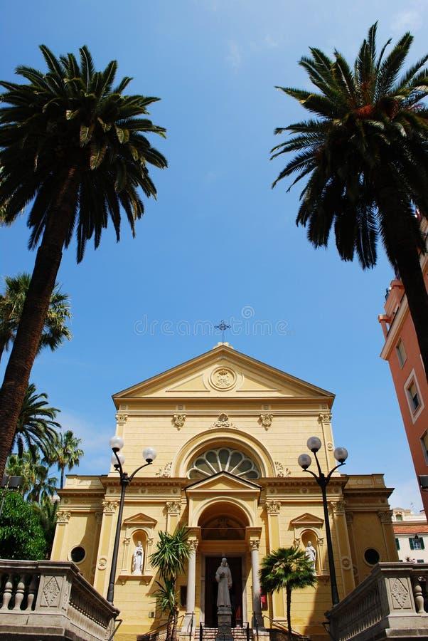 Gelbe Kirche stockfoto