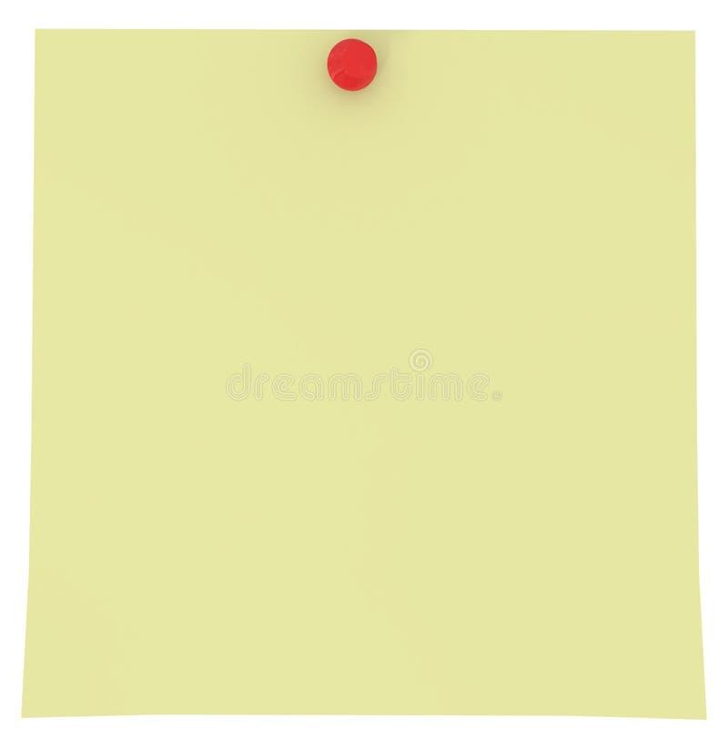 Gelbe klebrige Anmerkung getrennt auf Weiß vektor abbildung