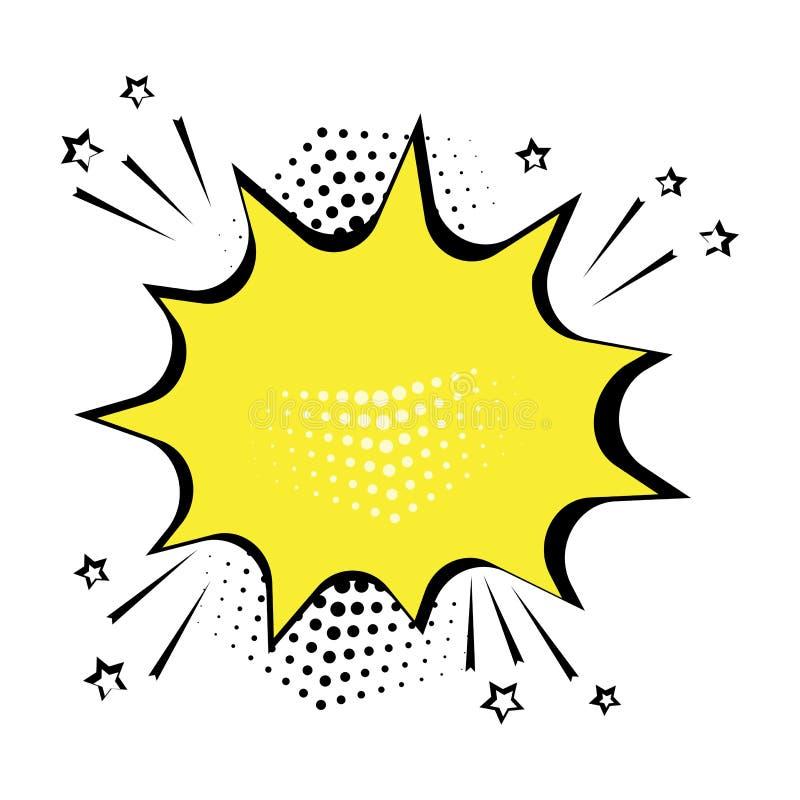Gelbe komische Blase für Ihren Text Auch im corel abgehobenen Betrag stock abbildung