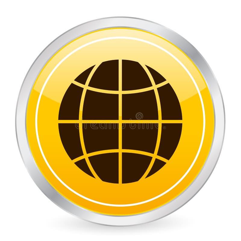 Gelbe Kreisikone der Kugel stock abbildung
