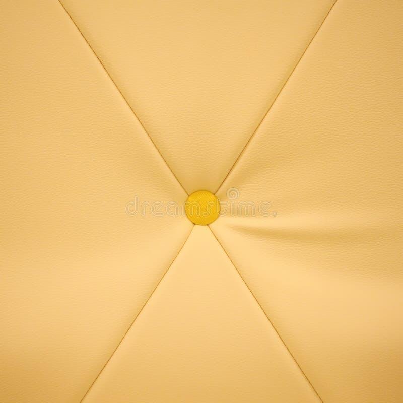 Gelbe lederne Beschaffenheit lizenzfreie stockfotos