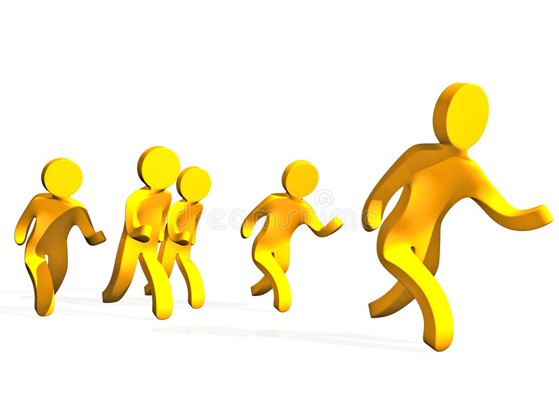 Gelbe Männer stock abbildung