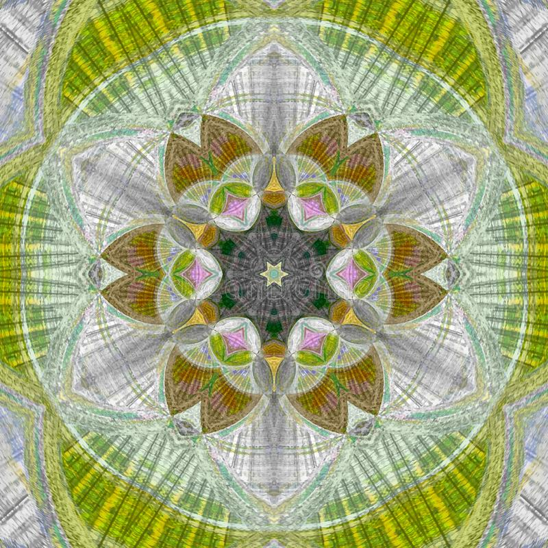 Gelbe Mandala Sun-Muster, Hintergrund, Element lizenzfreie abbildung