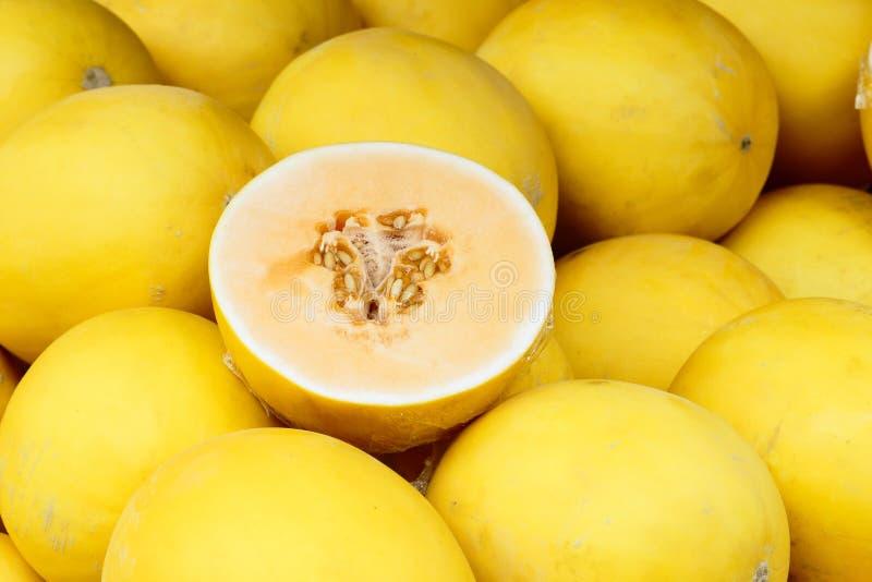 Gelbe Melonen stockbilder