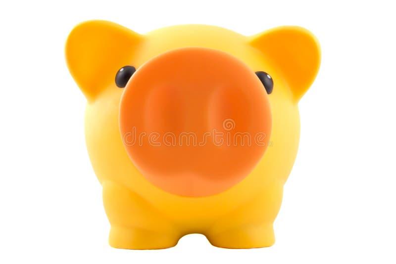 Gelbe Piggy Querneigung stockfotografie