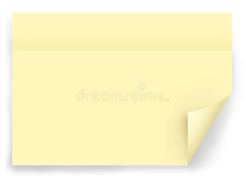 Gelbe Post-Itanmerkung vektor abbildung