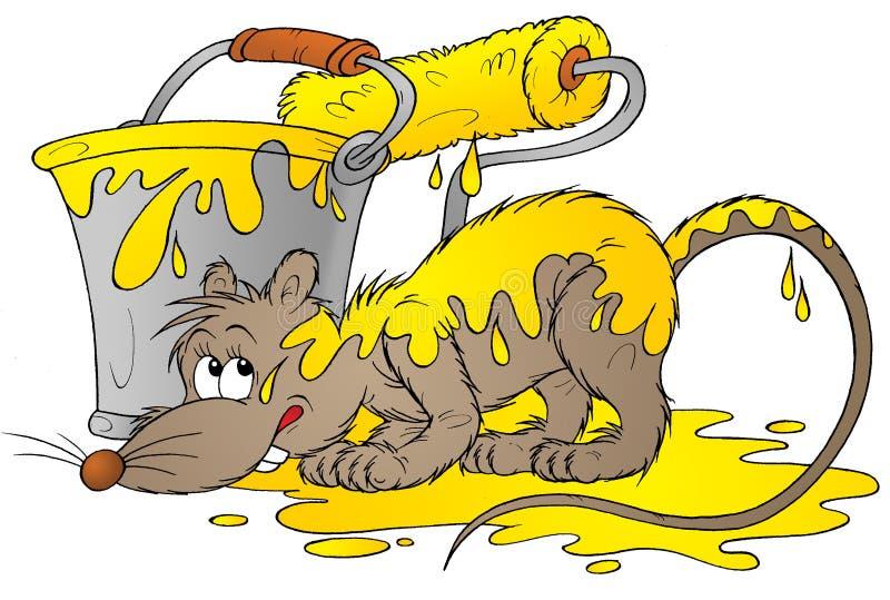 Gelbe Ratte lizenzfreie abbildung