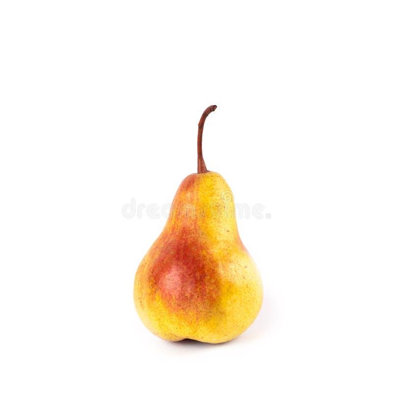 Gelbe reife frische Birne des Fotos lizenzfreie stockbilder