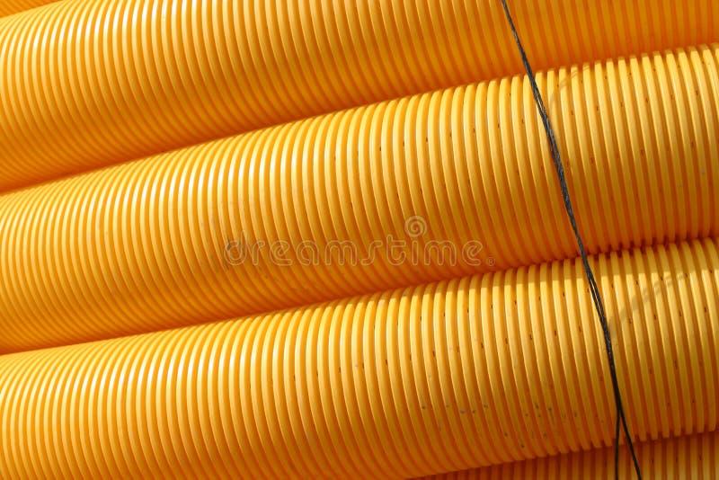 Gelbe Rohre lizenzfreies stockfoto