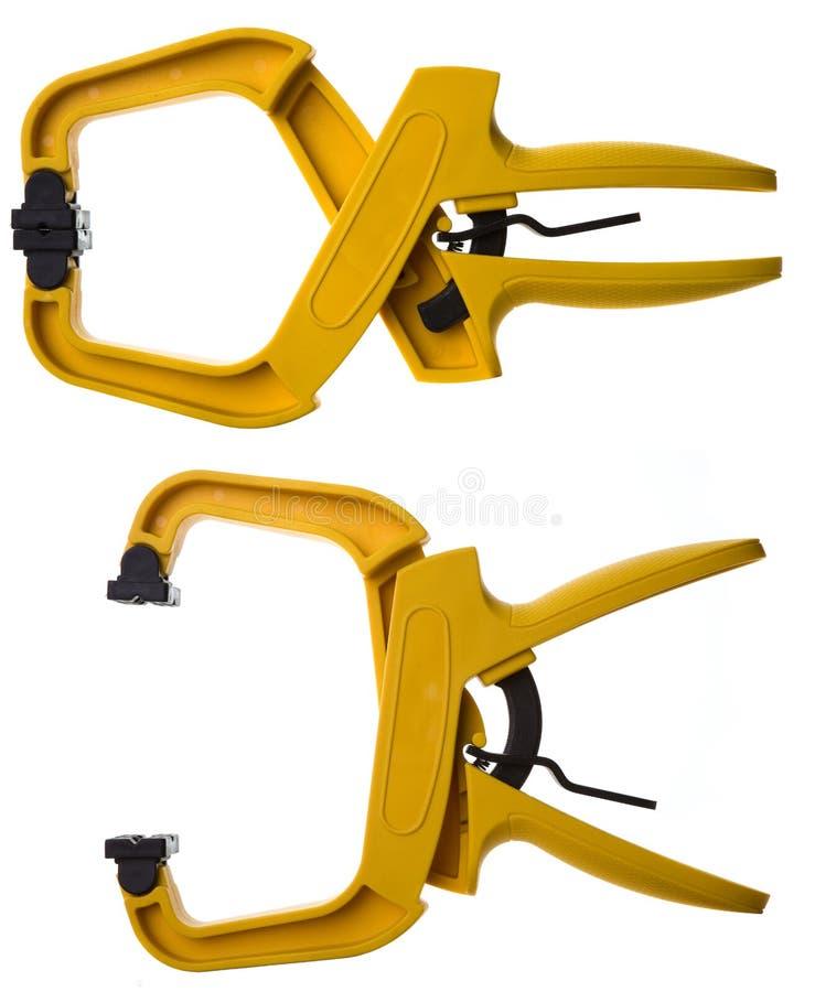 Gelbe Rohrschellen lizenzfreies stockbild