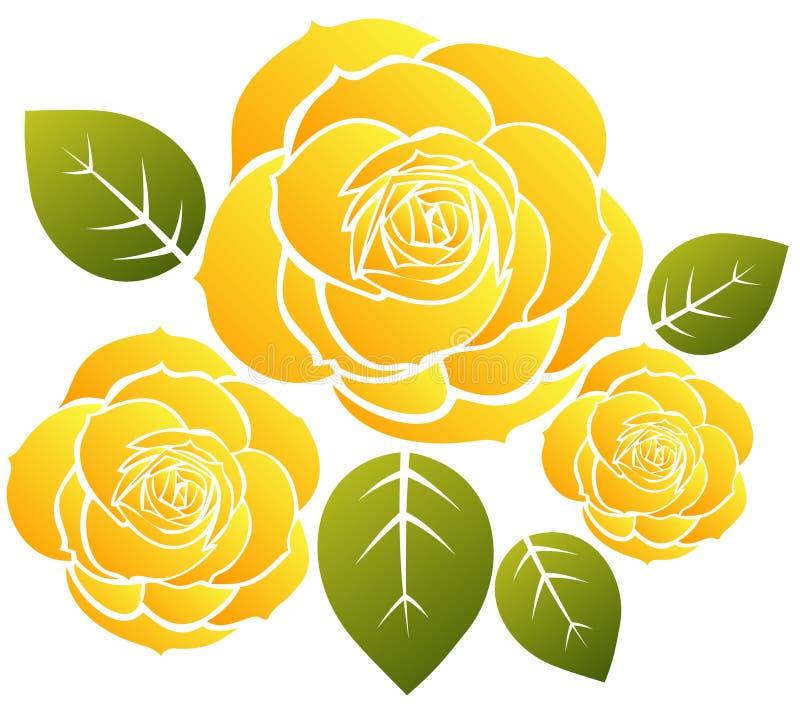 Gelbe Rosen vektor abbildung