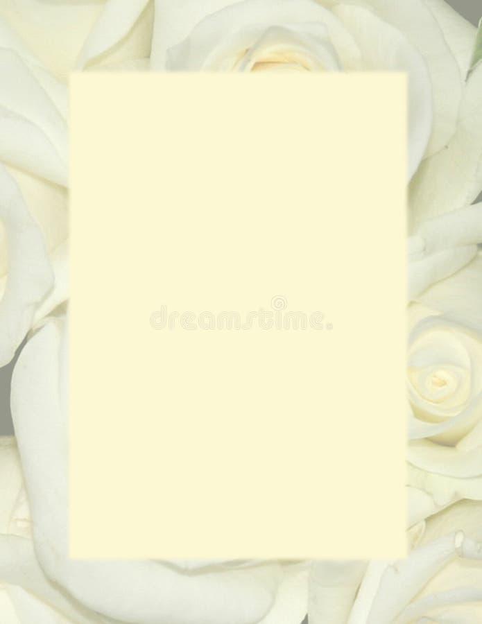 Gelbe Rosen - Hintergrund-Briefpapier