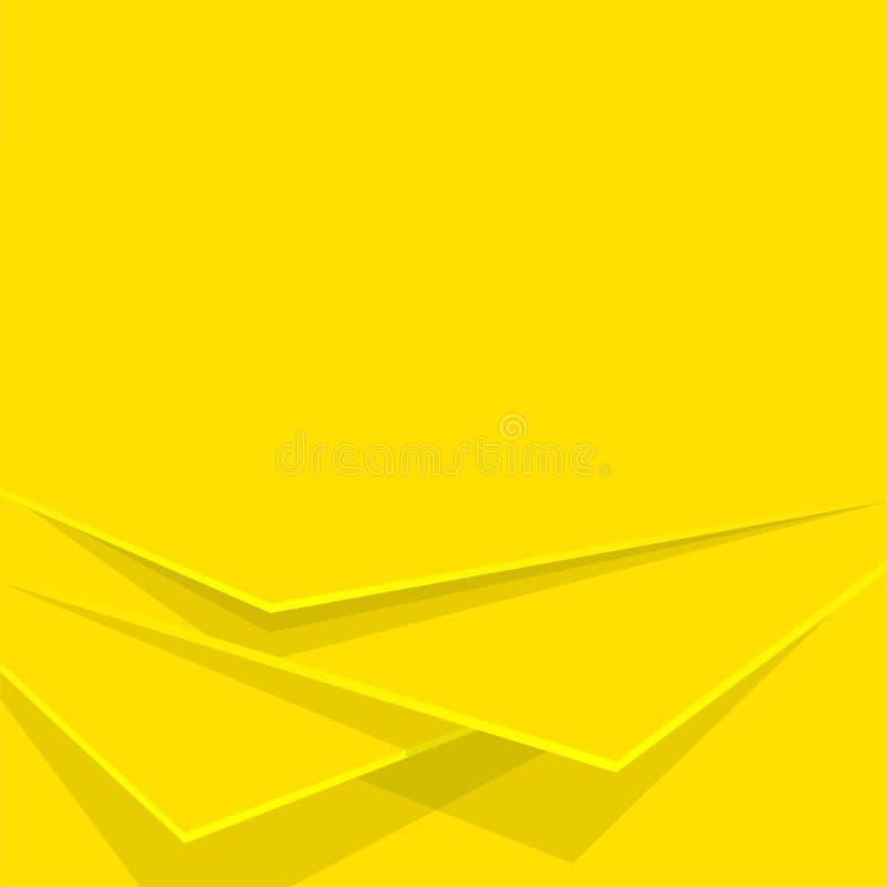 Gelbe Schichten des Zusammenfassungshintergrundes Editable Hintergrund des Vektors lizenzfreie abbildung