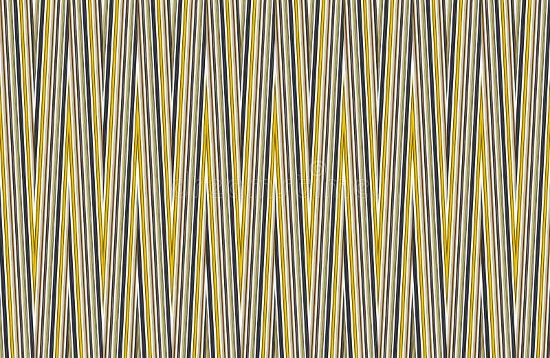 Gelbe schwarze weiße Linien verlaufen Schmutzhintergrundbasis des Segeltuches Hintergrund-Packpapierpostkarte der kontrastierende lizenzfreie stockbilder