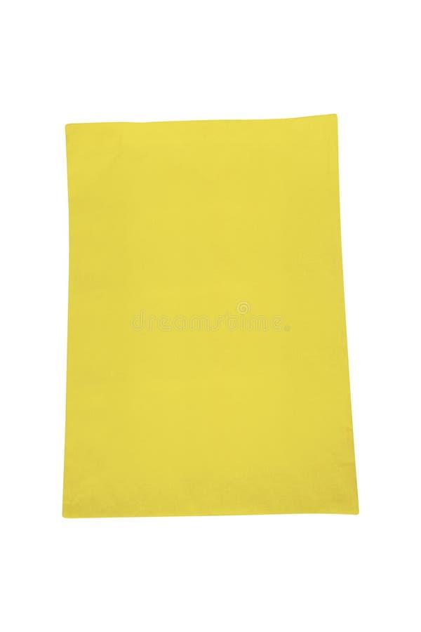 Gelbe Segeltucheinkaufstasche lokalisiert auf Weiß lizenzfreies stockfoto