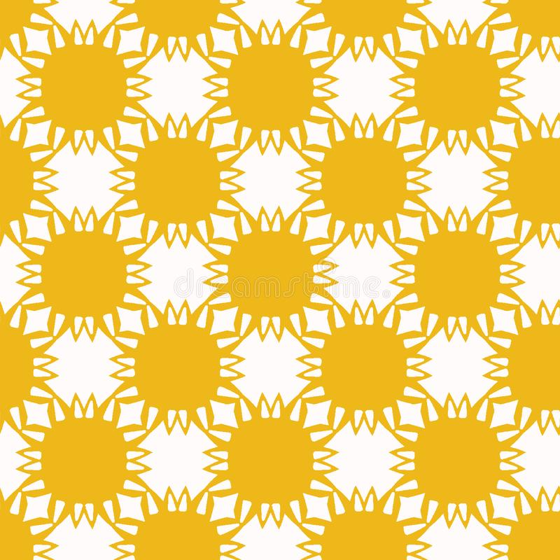 Gelbe Sonnenblume schnitt Formen heraus Nahtloser Hintergrund des Vektormusters Handgrafische Illustration der gezogenen matisse  lizenzfreie abbildung