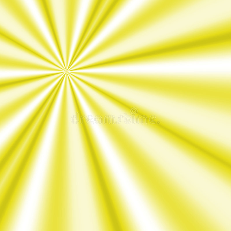Gelbe Sonnestrahlen lizenzfreie abbildung