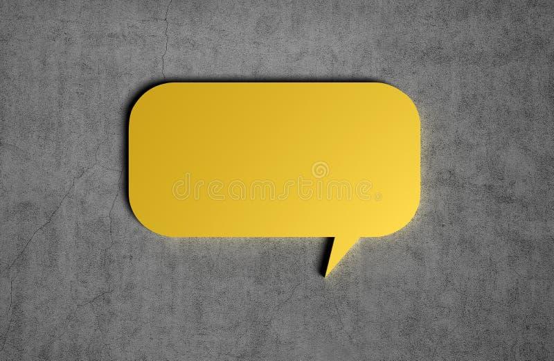 Gelbe Spracheblase stock abbildung