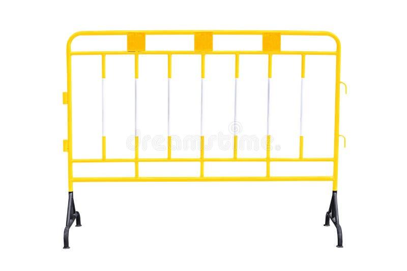 Gelbe Stahlsperre stockfoto