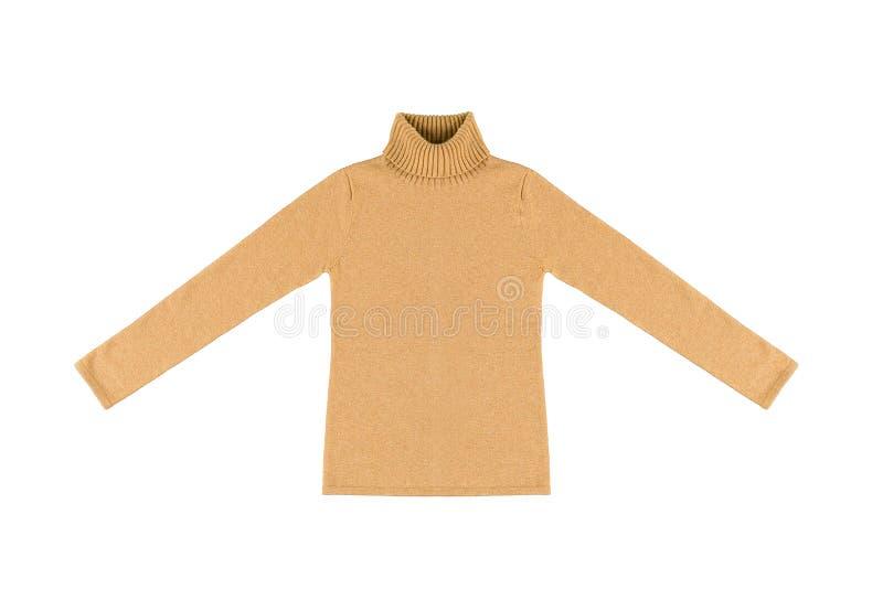 Gelbe Strickjacke stockbild