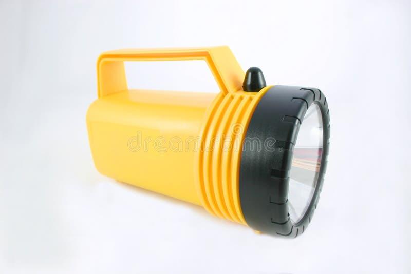 Gelbe Taschenlampe stockfotografie