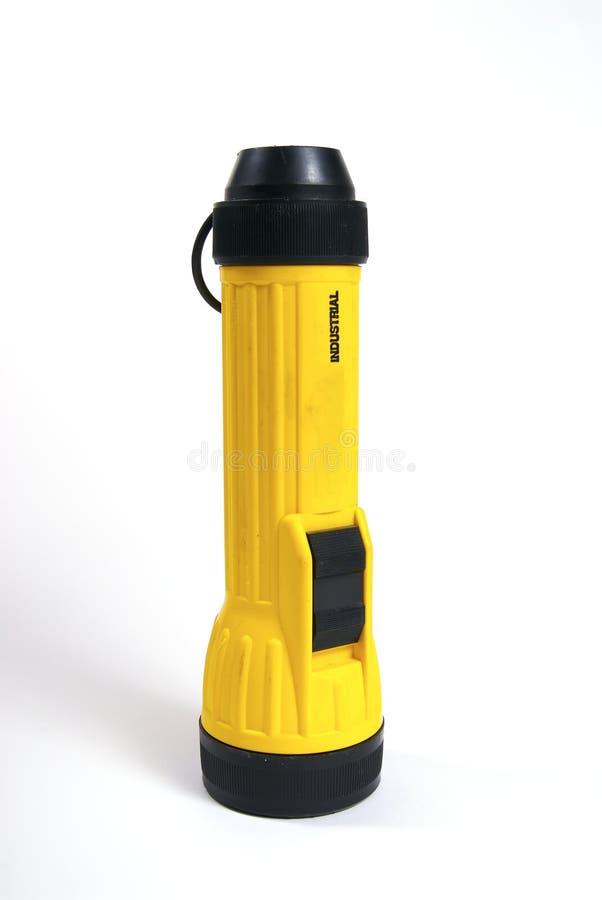 Gelbe Taschenlampe lizenzfreies stockbild