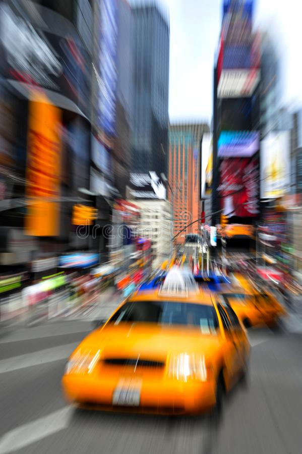 Gelbe Taxis in Manhattan New York City stockbild