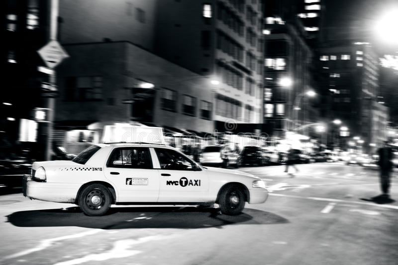 Gelbe Taxis in Manhattan New York City stockfoto