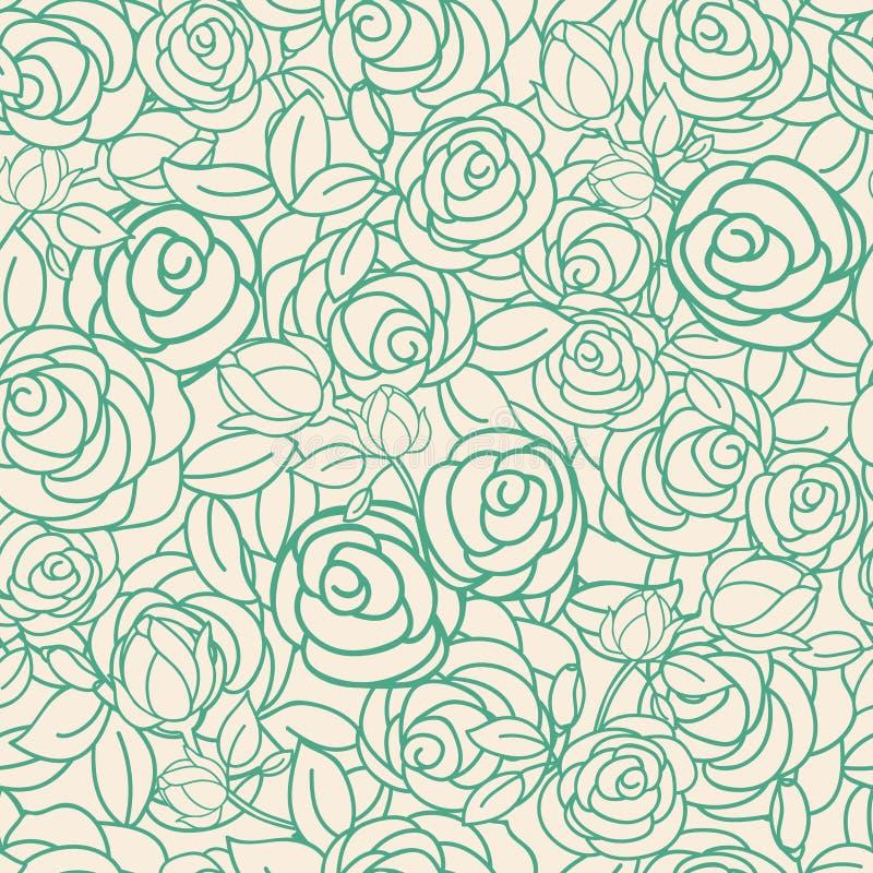 Gelbe und grüne Rosen der Gartenteeparty stock abbildung