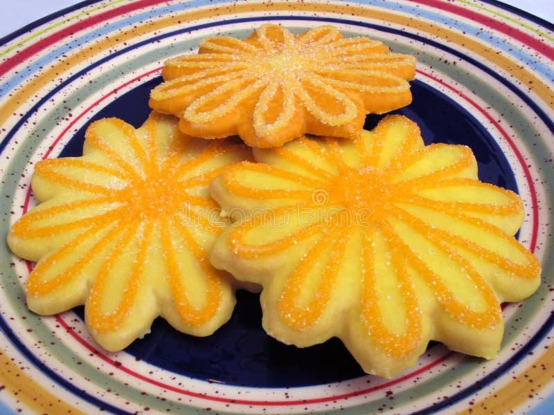 Gelbe und orange Plätzchen lizenzfreie stockfotos