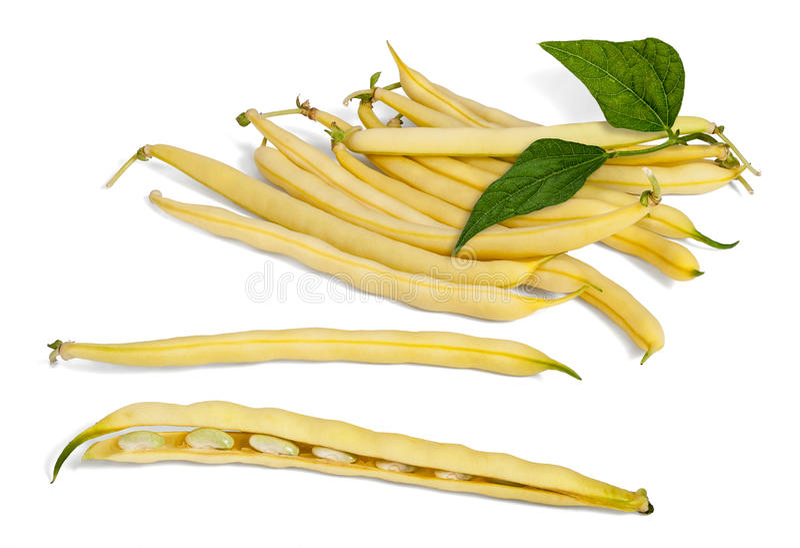 Gelbe Wachs-Bohnen stockfotos