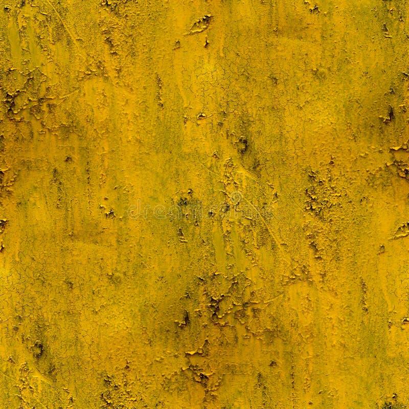 Gelbe Wand befleckt Gipssprungsfarbe nahtlos lizenzfreie stockfotografie