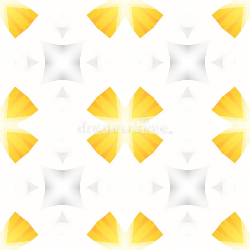 Gelbe weiße graue abstrakte Beschaffenheit Einfache Hintergrund-Illustration Nahtlose Fliese Textildruckmuster Hauptdekorgewebede vektor abbildung