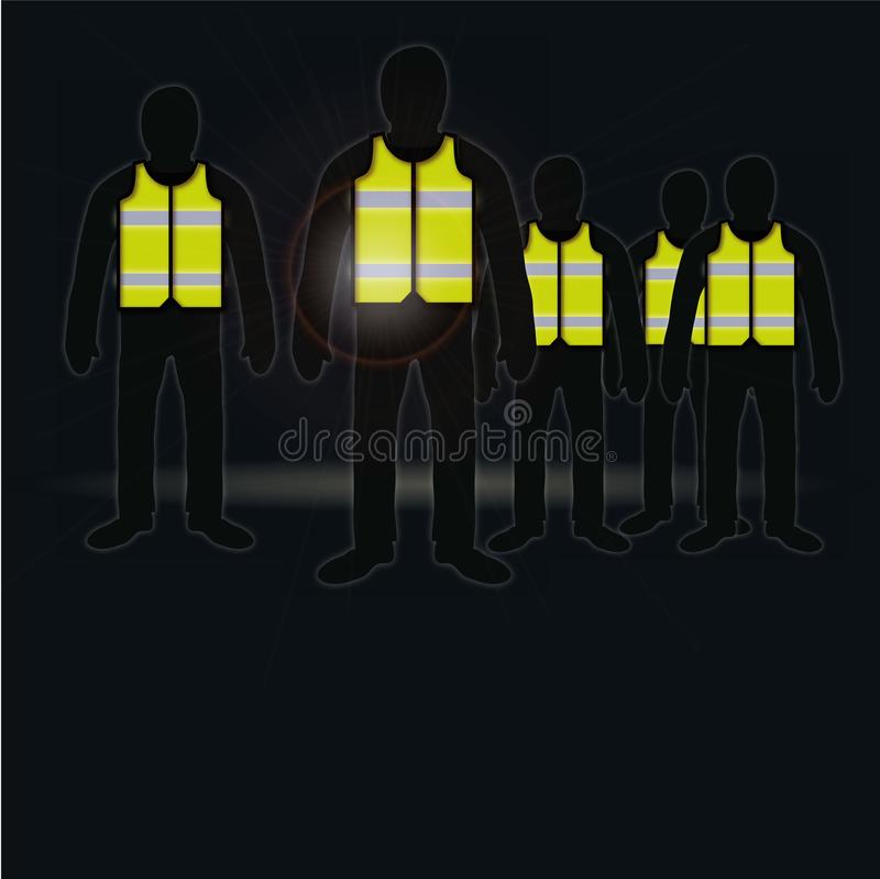 People with yellow vests vector illustration