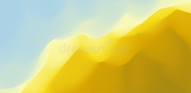 Gelbe Wolke und blauer Himmel am Abend Modernes Muster Natur-Hintergrund Modernes Muster Abstrakter Hintergrund Vector stock abbildung