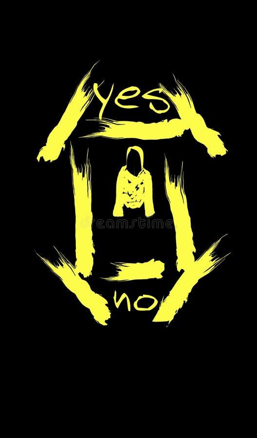 Gelbe Zeichnung der Jacke lizenzfreie stockbilder