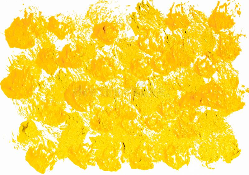 Gelber Acrylfarbe Hintergrund stockfotos