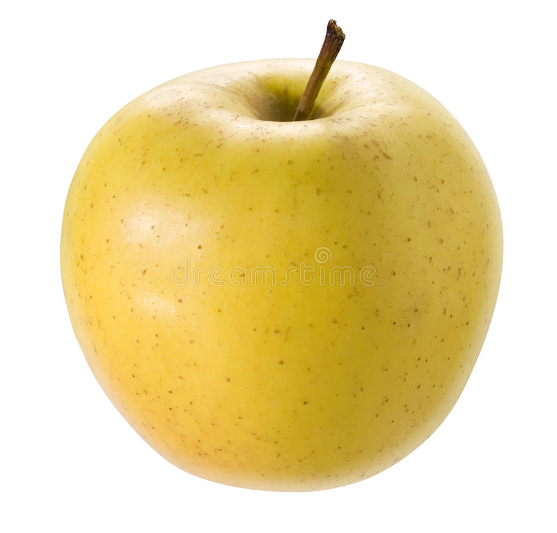 Gelber Apfel. lizenzfreie stockfotos