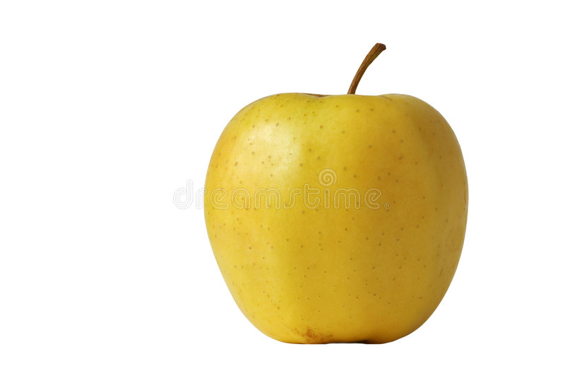 Gelber Apfel stockbild