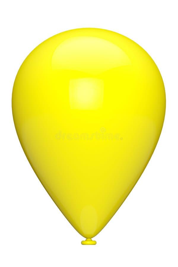 Gelber Ballon stockbild