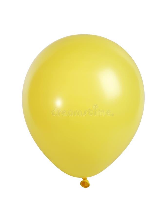 Gelber Ballon getrennt auf Weiß lizenzfreie stockfotografie